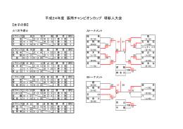 平成24年度 阪南チャンピオンカップ 堺新人大会