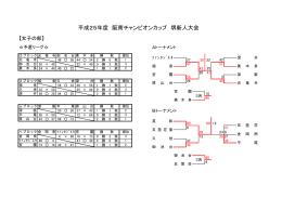 平成25年度 阪南チャンピオンカップ 堺新人大会