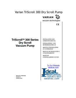 TriScroll ™ 300 Series Dry Scroll Vacuum Pump