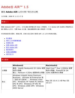 AIR 1.5 发行说明