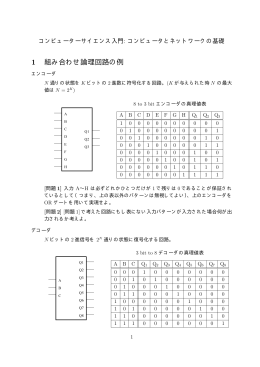 1 組み合わせ論理回路の例