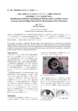 眼球運動のための高速楕円検出