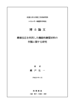 博 士 論 文 - 佐賀大学機関リポジトリ
