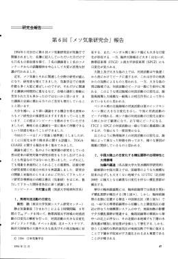 第6回 「メソ気象研究会」 報告