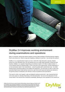 DryMax 2.4 improves working environment during
