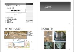 擁壁設計と土圧 1.失敗事例