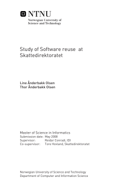 Study of Software reuse at Skattedirektoratet