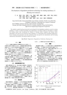 回転機の劣化予測技術の開発(1) (軸受摩耗解析