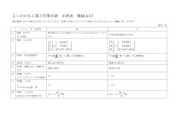 よくわかる工業力学第8刷 正誤表 H22.4.17