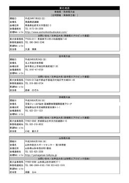 東北地区 - 日本エアロビック連盟