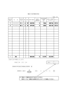 職員の給料額変更届 - 新潟県市町村総合事務組合