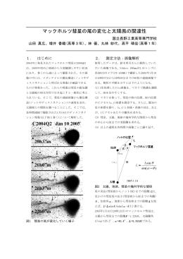 マックホルツ彗星の尾の変化と太陽風の関連性