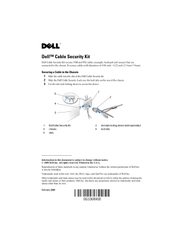 Dell™ Cable Security Kit