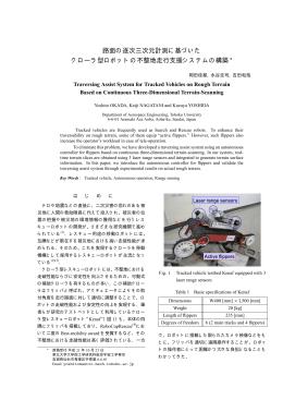 路面の逐次三次元計測に基づいた クローラ型ロボットの不整地走行支援