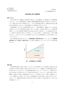 光弾性係数に関する実験結果