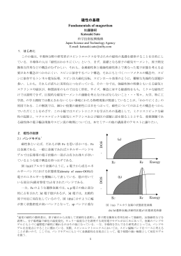 磁性の基礎 Fundamentals of magnetism