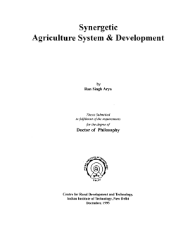 Synergetic Agriculture System&Development