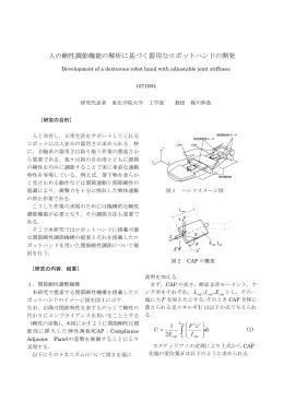 人の剛性調節機能の解析に基づく器用なロボットハンドの開発