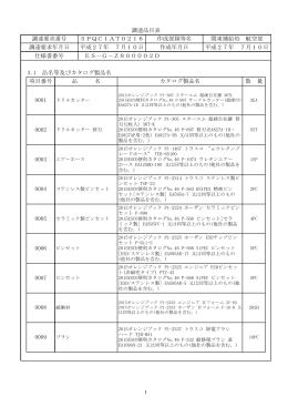 0001 仕様書番号 ES-G-Z800002D 3.1 品名等及びカタログ製品名