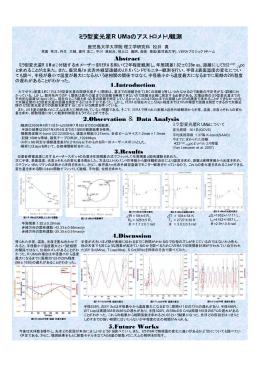 Abstract ミラ型変光星R UMaのアストロメトリ観測 1
