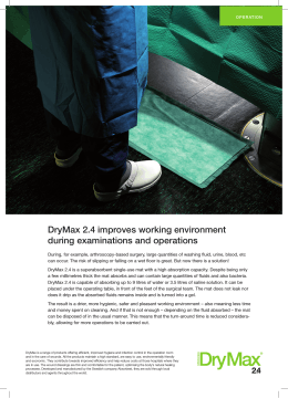 DryMax 2.4 improves working environment during examinations and