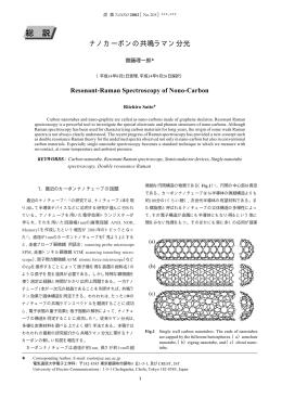 ナノカーボンの共鳴ラマン分光 - Riichiro Saito Lab