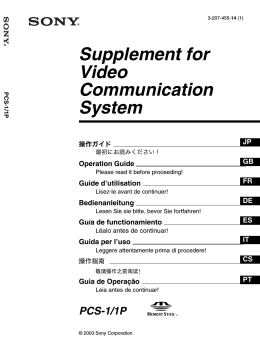 Supplement for Video Communication System
