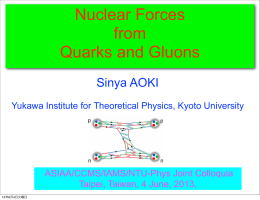 Nuclear Forces from Quarks and Gluons