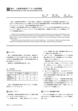 東北・上越新幹線用デジタル形配電盤