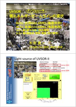 UVSOR 低 ネルギ ビ ムラインの現状 低エネルギービームラインの現状