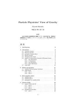 Particle Physicists` View of Gravity