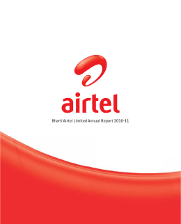 Bharti Airtel Limited Annual Report 2010-11