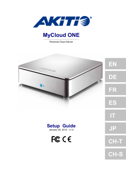 MyCloud ONE Setup Guide