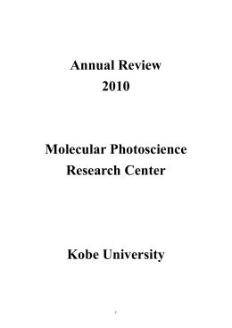 Annual Review 2010 Molecular Photoscience Research