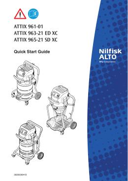 инструкцию по эксплуатации пылесоса Nilfisk Attix 963