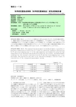 研究成果報告書 - KAKEN - 科学研究費助成事業データベース