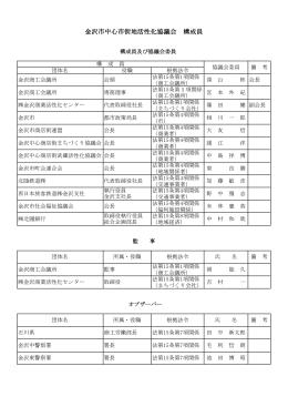 金沢市中心市街地活性化協議会 構成員・規約 (PDF)