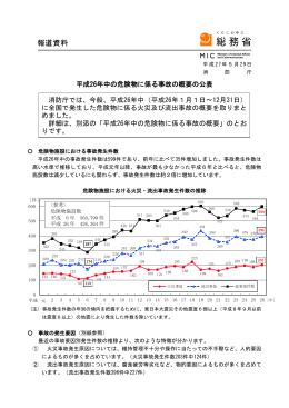 平成26年中の危険物に係る事故の概要の公表