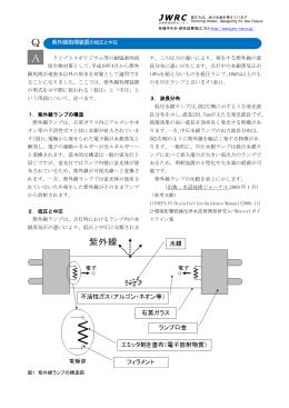 Q 紫外線処理装置の低圧と中圧