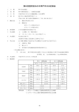 第62回国民皆泳の日神戸市水泳記録会