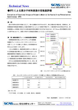 TN442 XPSによる高分子材料表面の官能基評価