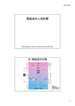 (電磁波の人体影響)(PDF in Japanese)