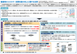 資料4 建築物のエネルギー消費性能の向上に関する法律