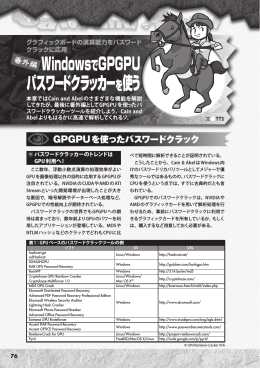 WindowsでGPGPU パスワードクラッカーを使う