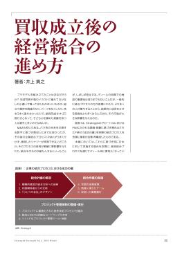 買収成立後の 経営統合の 進め方 - Strategy