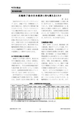 五輪終了後の日本経済に待ち構えるリスク