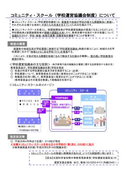 コミュニティ・スクール(学校運営協議会制度)について