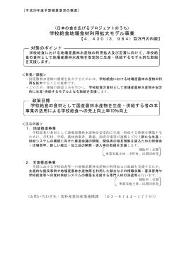 学校給食地場食材利用拡大モデル事業(PDF:298KB)