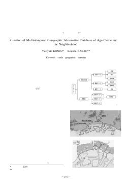 英賀城およびその周辺の 時系列地理情報データベースの作成