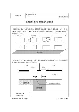 安全条例 窓先空地に面する開口部分の必要寸法